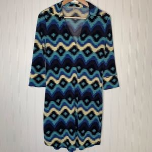 RACHEL Rachel Roy aztec print shirt dress size M